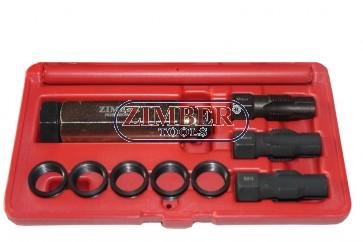 Инструменти за възстановяване на резби на свещи -10 части M 8 X 1.0,  ZR-36GPTS081010 - ZIMBER TOOLS