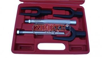 Вилица за избиване на шарнири и накрайници 5 части, ZR-36TRJ05 - ZIMBER TOOLS