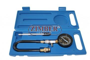 Компресомер за измерване на компресия за бензинови двигатели -  ZT-04101 - ZIMBER-TOOLS
