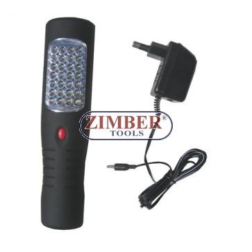 Подвижна диодна лампа-комбинирана 12v-220v 35 диода (HS-2035) ZIMBER - TOOLS.
