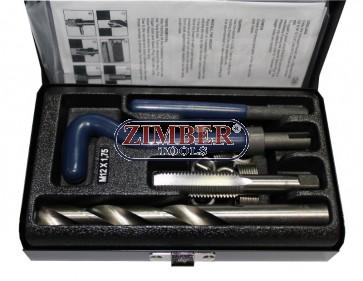 Комплект за възтановяване на резби M12x1.75 - 15бр, ZR-36TCIPK12 - ZIMBER-TOOLS