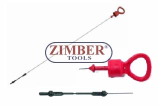 Щека за измерване нивото на двигателно масло AUDI-100, 655mm (ZR-36AOD) - ZIMBER-TOOLS