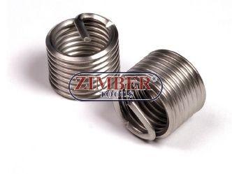 Втулки за възстановяване на резби M12 x 1,5 x 16,3mm, 1бр. - ZIMBER-TOOLS