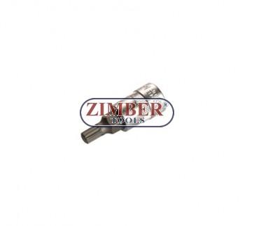 """Накрайник M10 на вложка , 1/4"""" (ZB-2506)"""