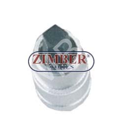 """Вложка с накрайник пентагон 10мм на 1/2"""" - ZIMBER (ZL-6236)"""