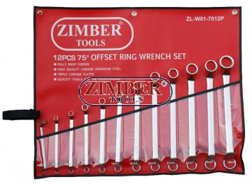 Ключове лули к-т 75 градуса 12 части (6-32мм), ZL-W01-7012P - ZIMBER-TOOLS.