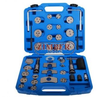 К-т за сваляне на спирачни цилиндри с ляво и дясно въртене - 40 части  (ZR-36BCWT40)  - ZIMBER-TOOLS