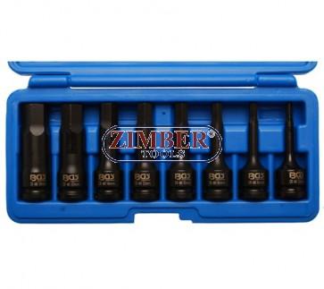 "Вложки ударни шестограми 5-19мм, 1/2""- 8 части - BGS (ZB-5481) - ZIMBER - TOOLS."