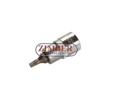 """Накрайник на вложка 1/2"""", Т27х53мм - BGS, ZB-4367 ZIMBER - TOOLS."""