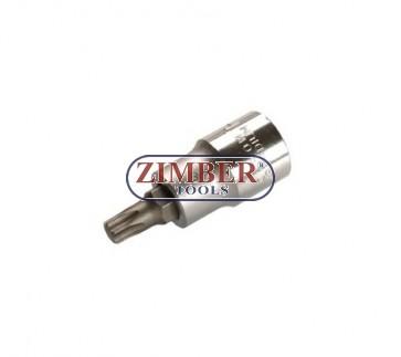 """Накрайник на вложка 1/2"""", Т45х53мм - BGS, ZB-4373 ZIMBER - TOOLS."""