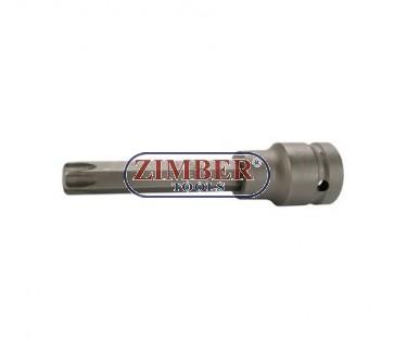 """Накрайник на вложка ударна T-STAR, 100 mm удължен 1/2"""" T55 - BGS,ZB-5475 ZIMBER - TOOLS."""