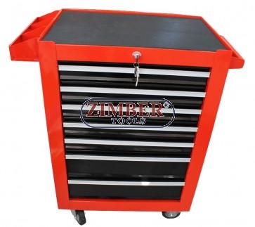 Шкаф за инструменти с колела - 7 отделения- CH7