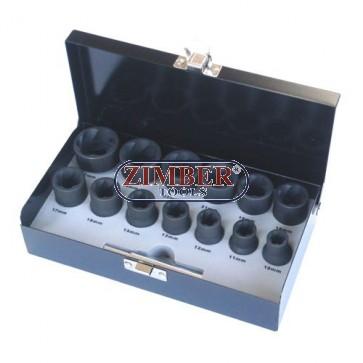 Вложки екстрактори - 1/2 к-т 14 части, ZR-36NES1214 - ZIMBER TOOLS
