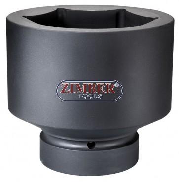 """Вложка ударна шестостенна 1"""" - 100mm - ZIMBER (ZR-08IS8100M)"""