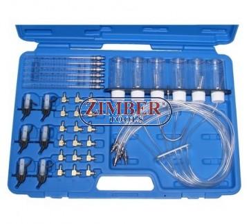 К-т за тестване на дюзи - диагностика на Common Rail 6 инжектори - ZB-8102 - BGS. Комплект за диагностика на Common Rail