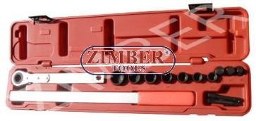 К-т ключ универсален 1/2-3/4 с вложки - ZIMBER