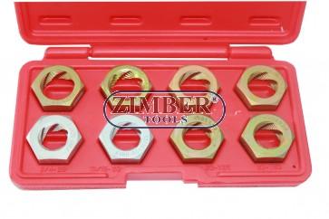 Плашки за ремонт на резби к-т 8 части-ZIMBER (ZL-7037)