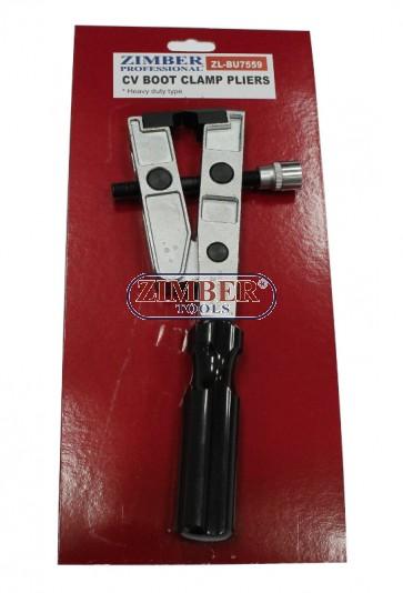 Клещи за скоби на карета на полуоски, ZR-36DCBBP - ZIMBER-  TOOLS