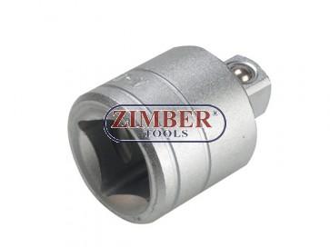 """Адаптор 1/2""""(F) x 3/4""""(M) (ZR-04A12F34M)  - ZIMBER - TOOLS."""