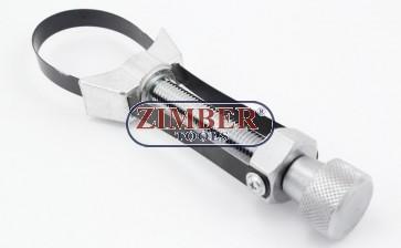 Скоба за маслен филтър с лента 65-110 mm, ZR-17MSW65110 - ZIMBER TOOLS