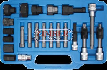 К-т за демонтаж на шаибите на алтернатори 23 части (4247) - BGS technic