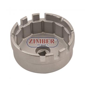 Чашка за маслен филтър 64.5mm.14 ъгли,Toyota / Lexus 1.8 & 2.0L 4-Zylind :ZR-36OFW11 - ZIMBER TOOLS