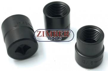 Екстрактори за развалени гайки 3 части -  (ZR-36NREL03)- ZIMBER TOOLS