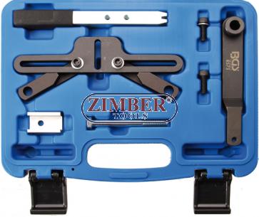 Комплект инструменти за фиксиране на маховик BMW  M47T2, M47TU, M57T2, M57TU, M67, N45, N45T, N46, N46T, N51, N52, N53, N54, W17 -8573 - BGS technic.