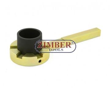 Инструмент за фиксиране на демпферни шайби на колянов вал BMW (E39/E46/E60/E61/E81/E83/E90/E91) - ZT-04A4041 - SMANN TOOLS.