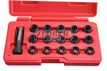 Инструменти за възстановяване на резби на свещи 16 части, ZT-01S0525 - SMANN TOOLS.