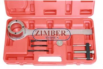 К-т инструменти за монтаж и демонтаж на шайбата на колянов вал-Jaguar-Land Rover V8 - с верига  - ZT-04B2096 - SMANN TOOLS.