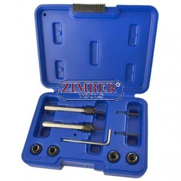 К-т инструменти за почистване на точкова заварка 9-части, ZT-08А0174 - SMANN TOOLS.