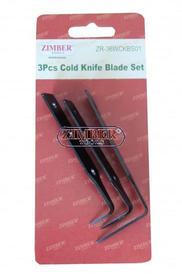 К-т резервени ножове за рязане на уплътнения на стъкла 3бр 3/4 - ZR-36WCKBS01 - ZIMBER TOOLS