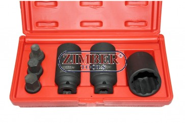 К-т ударни вложки за главина 6 части  1/2 - AUDI,VW,BMW- ZIMBER TOOLS
