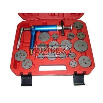 К-т за сваляне на спирачни цилиндри на въздух 18 части, ZR-36APB - ZIMBER-TOOLS