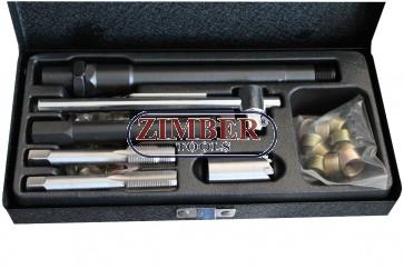 К-т за възстановяване на резби на запалителни свещи (ZT-04801) - SMANN TOOLS.