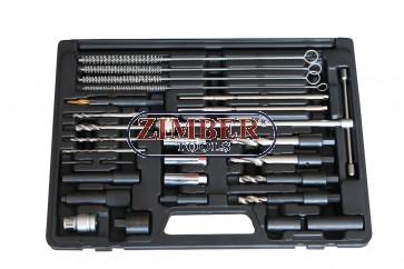 К-т за вадене скъсани подгряващи свещи 8mm, 10mm, 10mm -27 части - ZR-36GPTS27 - ZIMBER TOOLS.