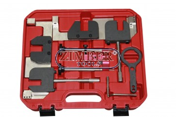 Комплект инструменти за зацепване на двигатели BMW N63/S63 4.4L V8 - ZT-04A2350 - SMANN TOOLS