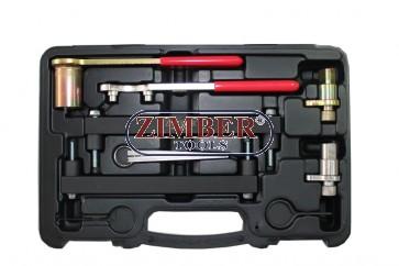 К-т за зацепване на бензинови двигатели - Jaguar, Land Rover 3.2, 3.5, 4.0, 4.2, 4.4 V8 - (с верижно задвижване) ZR-36ETTS74 -ZIMBER TOOLS.