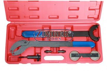 К-т за зацепване на двигатели  VAG 1.8 TURBO & 1.6 FSI - Chain Drive - ZT-04A2258 - SMANN TOOLS.
