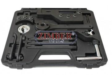 под наем - Комплект за зацепване на двигател на VW TOUAREG. TRANSPORTER T5. VW 2.5/4.9D/TDI PD  ZR-36ETTK1 - ZIMBER-TOOLS. Инструмент под наем - 50 ЛВ- За -24- Ч.