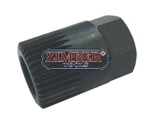 Ключ за алтернатори Н17х33Тх30 мм, VW GOLF, VENTO, PASSAT, AUDI A3, AND VOLVO - ZR-36AW1733 -ZIMBER-TOOLS
