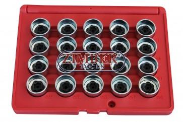 Ключове за секретните болтове на BMW- 20бр - ZR-36WLSRKB20 - ZIMBER TOOLS.