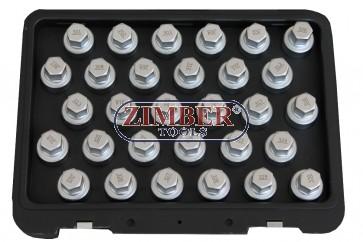 Ключове за секретните болтове на MERCEDES BENZ, 30бр- ZR-36WLSRKMB - ZIMBER TOOLS.