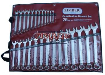 К-т звездогаечни ключове 26 части от 6-32мм  ZR-17CWS26 - ZIMBER-TOOLS