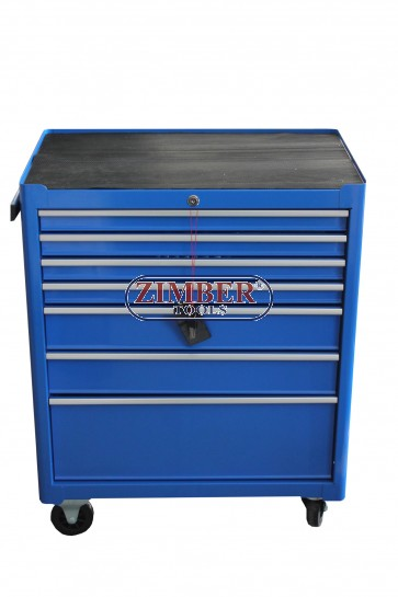 Инструментална количка (шкаф) 7 отделения, к-т с инструменти 196 части, ZT-01Y0112-1 - SMANN TOOLS