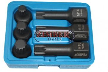 Комплект бит- M вложки 6ч.ударни за (VAG Grup) ZR-06ISS12H2406 - ZIMBER TOOLS