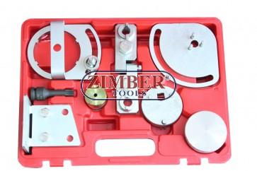 Комплект инструменти за зацепване на двигатели  Landrover, Jaguar, Volvo S80, XC90, XC60, XC70 3.0T, 3.2. T6 - ZT-04A2137-SMANN TOOLS.