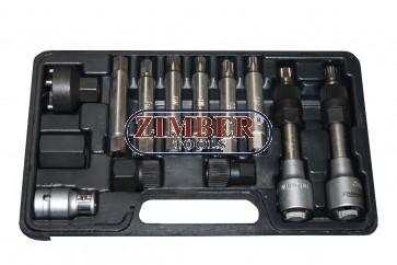 К-т ключове за демонтаж на шайбите на алтернатори 13 бр. ZR-36VBBS12  - ZIMBER-TOOLS