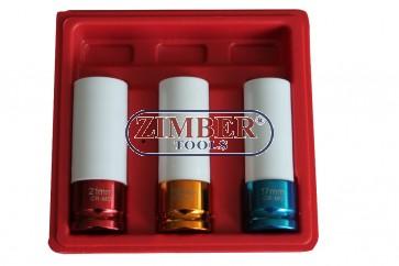 """Комплект вложки за лети джанти 1/2"""" 17-mm, 19mm, 21 mm, ZT-01136 - SMANN TOOLS"""